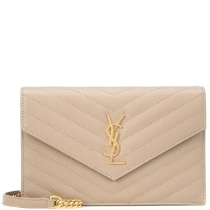 Saint Laurent Monogram Envelope Chain Wallet Small